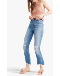 Madewell - Cali Demi-boot Button Front Jeans - Lyst