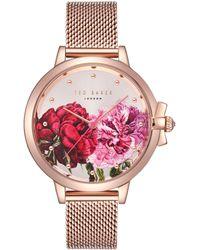 Ted Baker - Te50267009 Women's Ruth Mesh Bracelet Strap Watch - Lyst