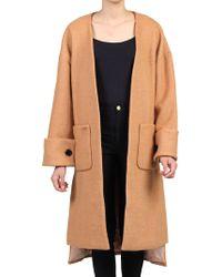 Jolie Moi - Faux Fur Pocket Padded Inner Coat - Lyst