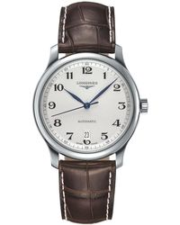 Longines | L26284783 Men's Master Collection Automatic Date Alligator Leather Strap Watch | Lyst