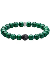 Thomas Sabo - Men's Rebel At Heart Obsidian And Simulated Malachite Bracelet - Lyst