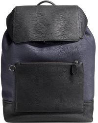 COACH - Manhattan Leather Backpack - Lyst