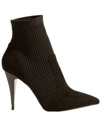 Karen Millen - Knitted Stretch Stiletto Heel Sock Boots - Lyst