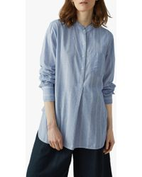 Toast Chambray Stripe Cotton Shirt