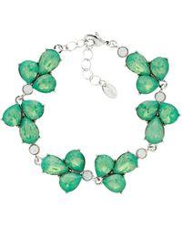Monet - Glass Crystal Teardrop Bracelet - Lyst