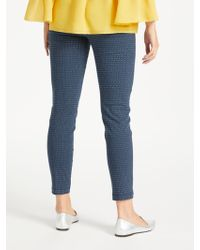 John Lewis - Max Studio Slim Leg Jacquard Trousers - Lyst