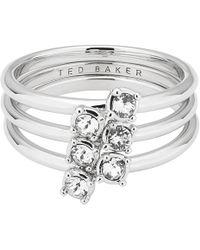 Ted Baker - Elwyn Princess Sparkle Stacking Ring - Lyst