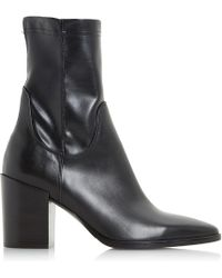 Dune Black - Padock Pointed Toe Ankle Boots - Lyst