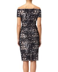 Adrianna Papell - Off-the-shoulder Lace Cocktail Dress - Lyst