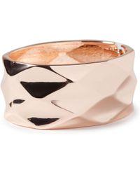 John Lewis - Diamond Textured Cuff Bracelet - Lyst