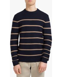 Eden Park - Linen Cotton Horizontal Stripe Jumper - Lyst
