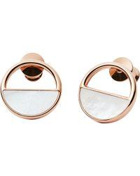 Skagen   Elin Circular Stud Earrings   Lyst