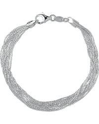 Links of London | Essentials Sterling Silver Silk 10 Row Bracelet | Lyst