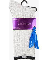 Calvin Klein - Holiday Luxury Cable Knit Socks - Lyst