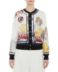 Ted Baker - Olyviaa Tranquility Woven Bomber Jacket - Lyst