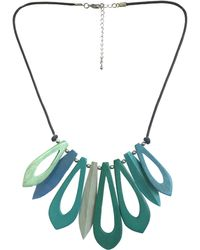 One Button - Short Open Wood Link Necklace - Lyst