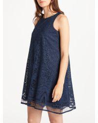 Max Studio - Sleelevess Lace Trapeze Dress - Lyst