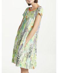 Marc Cain - Cactus Print Jersey Swing Dress - Lyst