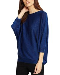 Phase Eight - Becca Batwing Shimmer Jumper - Lyst