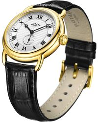 John Lewis - Rotary Men's Canterbury Leather Strap Watch - Lyst