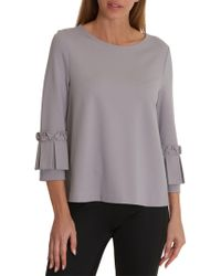 Betty Barclay Betty & Co Flared Jersey Top High Quality For Sale 8z2uxFtFEf