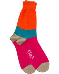 Thomas Pink - Rydall Block Stripe Socks - Lyst