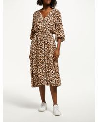 Just Female - Mathieu Leopard Dress - Lyst