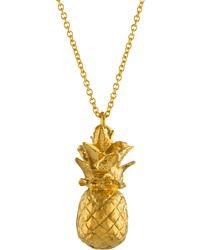 Alex Monroe - Long Pineapple Pendant Necklace - Lyst