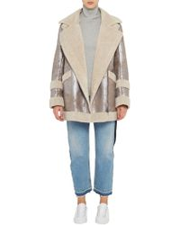 French Connection - Zelda Shearling Coat - Lyst