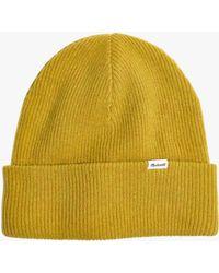 4d2453797e5 Madewell - Cuffed Cosy Merino Wool Beanie Hat - Lyst