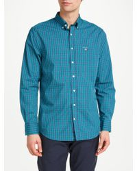 GANT - Tech Prep Regular Check Shirt - Lyst
