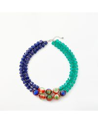 One Button - Marble Ball Beaded Necklace - Lyst