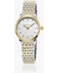 Frederique Constant - Fc-200whs3b-2 Women's Slimline Two Tone Bracelet Strap Watch - Lyst