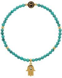Melissa Odabash - Turquoise Bead Hamsa Hand Stretch Bracelet - Lyst