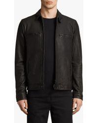 AllSaints - Lark Leather Jacket - Lyst