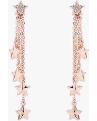 Ted Baker - Sharna Swarovski Crystal Star Chain Drop Earrings - Lyst