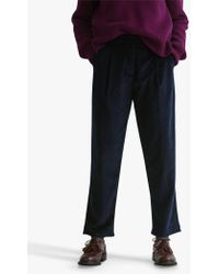 Toast - Pleated Front Cord Trousers - Lyst