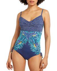 White Stuff - Tropic Leaf Swimsuit - Lyst