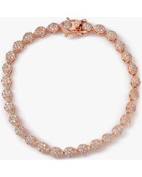 Ivory & Co. - Aria Teardrop Cubic Zirconia Pave Tennis Bracelet - Lyst