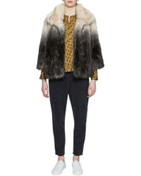 French Connection - Johanna Faux Fur Jacket - Lyst
