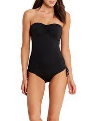 Seafolly - Active Swim Bandeau Swimsuit - Lyst