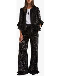 French Connection - Alodia Sequin Ruffle Jacket - Lyst