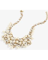 J.Crew - Penelope Glass Pearl And Crystal Grand Necklace - Lyst