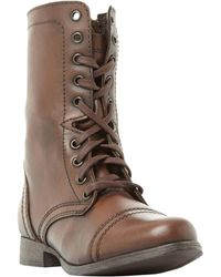 Steve Madden - Troopa Lace Up Boots - Lyst