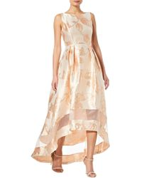 Adrianna Papell - Metallic Jacquard High-low Gown - Lyst