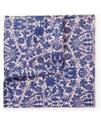 John Lewis - Floral Print Silk Pocket Square - Lyst
