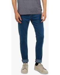 f5e8d548ce53b5 Ted Baker Scamp Slim Fit Tapered Jeans in Blue for Men - Lyst