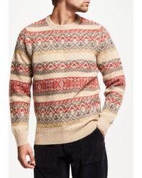 John Lewis - Fair Isle Weave Wool Jumper - Lyst
