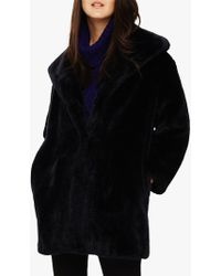 Phase Eight - Beckie Faux Fur Coat - Lyst