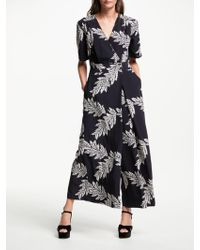 Somerset by Alice Temperley - Palm Print Jumpsuit - Lyst